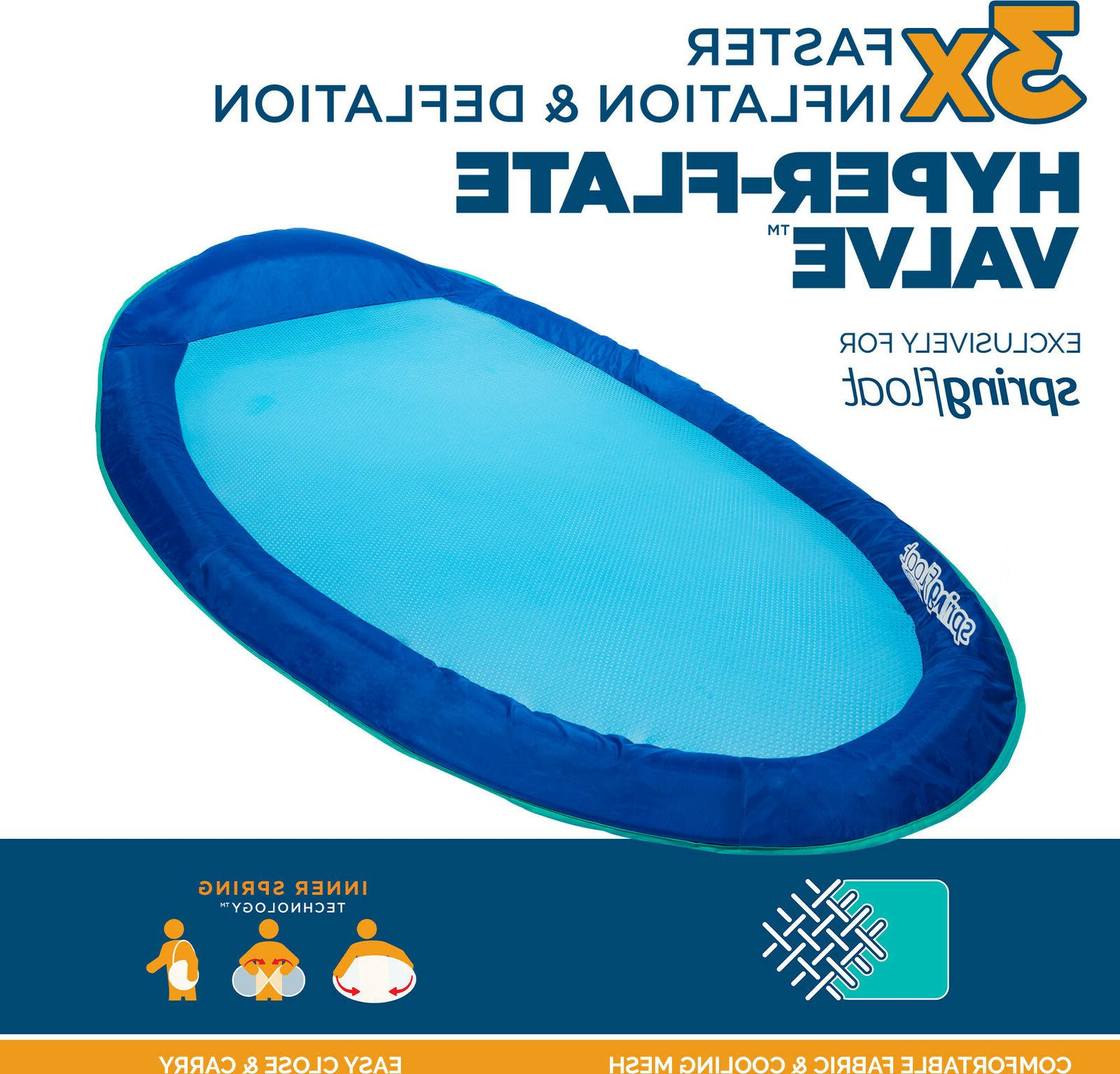 SwimWays Inflatable Pool Lounger with Valve