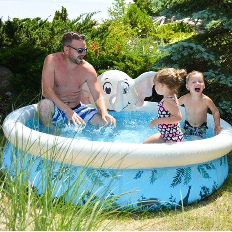 Summer Animal Inflatable Play Swimming Water Spray Ring