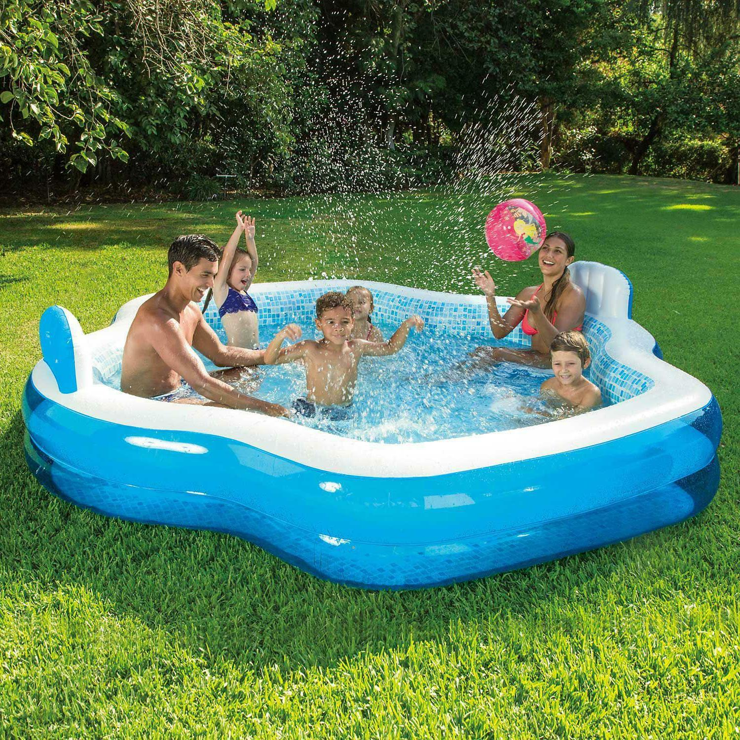 Summer Waves Inflatable Pool with Print