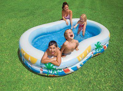 INTEX Center Inflatable Paradise Kids Pool w/