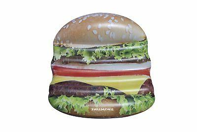 swimline inflatable cheeseburger deluxe island swimming pool