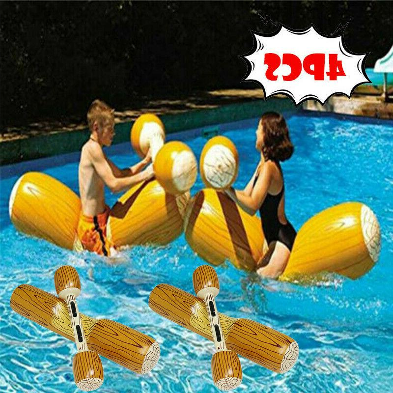swimming 9084 inflatable swimming pool log joust