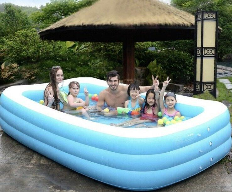 SWIMMING POOL inflatable kid adult pools ground fun family