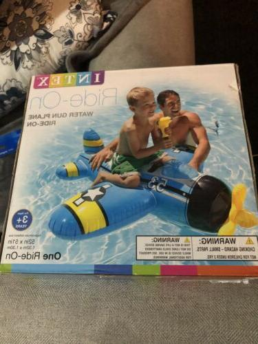swimming pool toys inflatable plane ride on