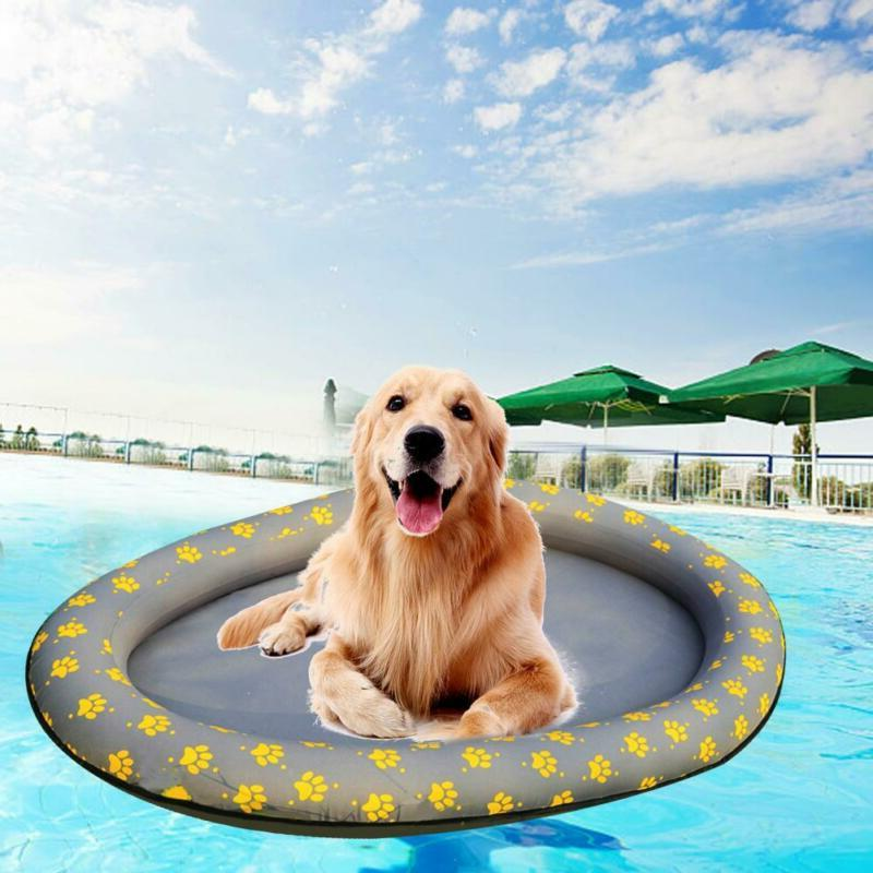 swimways summer swimming pool inflatable float dog