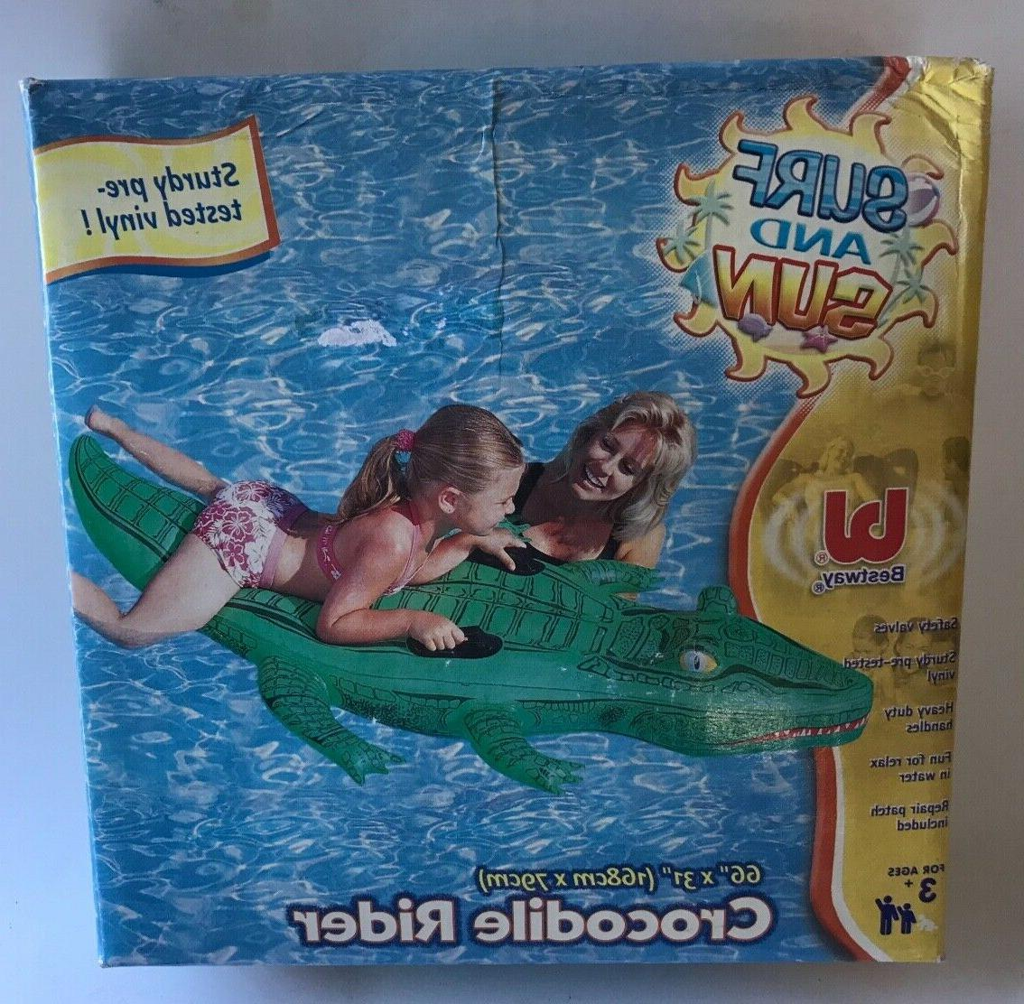 usa surf and sun crocodile rider inflatable