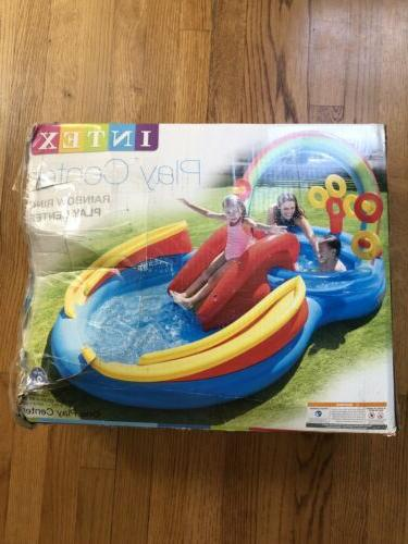 used rainbow ring inflatable play center pool