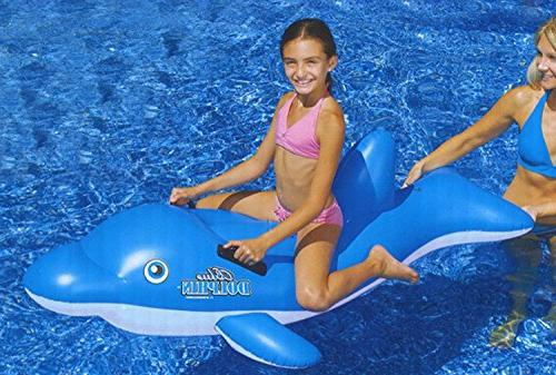 water inflatable ride dolphin swimming