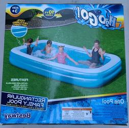 Large 10 ft long Inflatable Family Rectangular Swimming Pool