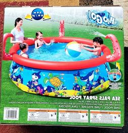 Large Inflatable Kids Swimming Pool Sea Pals Spray Pool by B