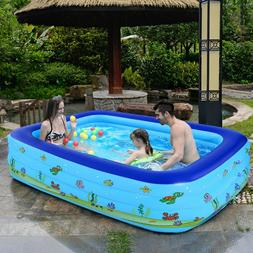Large Inflatable Swimming Pool Center Lounge Family Kid Wate