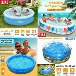 Inflatable Family Swimming Pool Summer Lounge Kids Child Wat