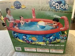 Large Inflatable Swimming Pool for Kids Sea Pals Spray Pool