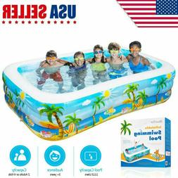 Large Inflatable Swimming Pool Kids Water Play Fun For Famil