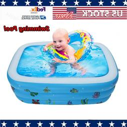 Large Inflatable Swimming Pool Kids Water Play Fun For One/T