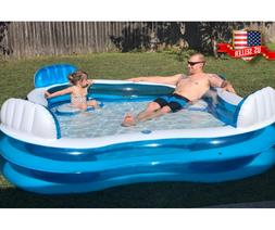 Large Inflatable Swimming Pool Lounge Sturdy for Kids Kiddie