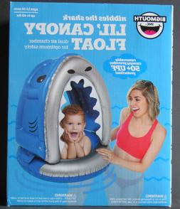 Bigmouth Inc Lil Canopy Float Pool Toy Nibbles The Shark Bab