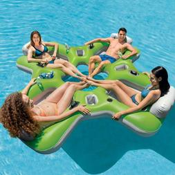 Intex Lounge Island Inflatable 4 Seat Inflatable PVC Pool Fl