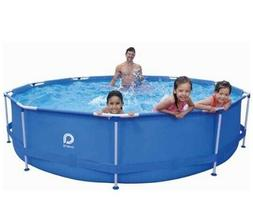 marin blue circular inflatable pool 12 ft