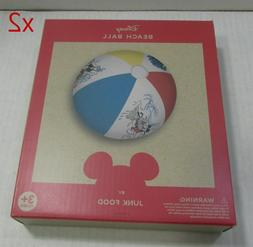 Junk Food Mickey Mouse Inflatable Pool Beach Ball Multi-Colo