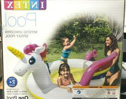 Intex Mystic Unicorn Spray Pool Toddler Wading Swim Summer F