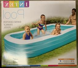 "NEW 10 FT 120""x72""x22"" Intex Rectangular Inflatable Family P"