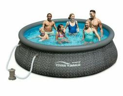 NEW Summer Waves 12ft x 36in Quick Set Inflatable Round Swim