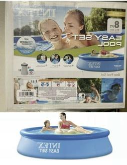 NEW INTEX 8ft x 30in EASY SET Pool w/ FILTER AND PUMP