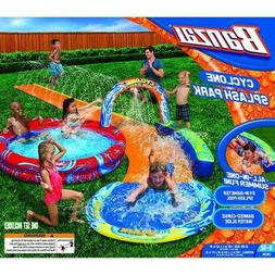 NEW BANZAI Cyclone Splash Park Inflatable Water Slide and Pl