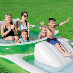 """New Bestway H2OGO! Family Pool With Slide 147"""" x 74"""" x 27"""" ~"""