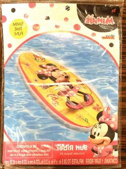 New Disney Junior Minnie Mouse Surf Rider inflatable pool sw
