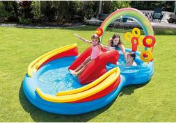 "Intex Inflatable Rainbow Ring Play Center 117"" X 76"" X 53"","