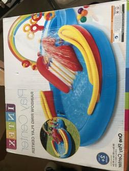 *NEW* INTEX Rainbow Ring Play Center Kids Inflatable Pool w/