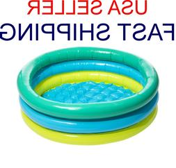 NEW ROUND 3-RING inflatable KIDDIE POOL colorful 3-ring kidd