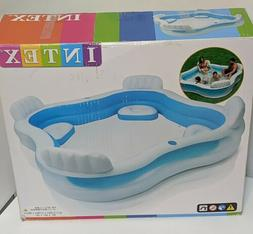 "NEW Intex Swim Center Family Lounge Inflatable Pool 90"" X 90"