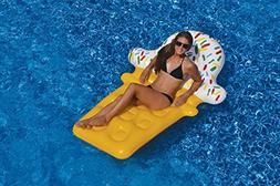 "74"" Novelty Yellow and White Ice Cream Cone Inflatable Swimm"