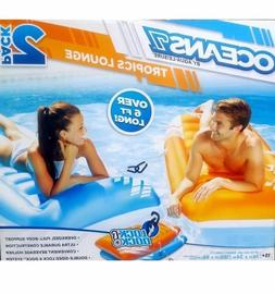 NEW Ocean Aqua Leisure 2 pk 6 ft. Long Inflatable Pool Loung