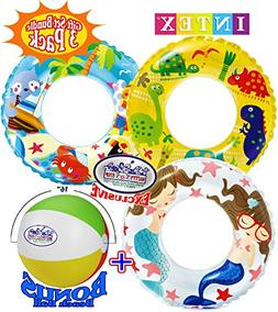 "Ocean Reef Transparent Swim Rings  ""Dinosaurs"", ""Mermaid"" &"