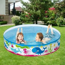 Outdoor 3 Kids Inflatable Swimming Pool Swim Center Water Fu