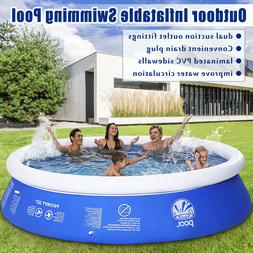 Outdoor Inflatable Swimming Paddling Pool Large Garden Famil