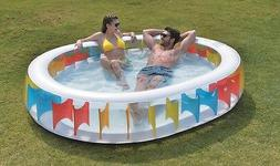 Jilong Oval Rainbow Inflatable Family Pool for Ages 6+, 98""