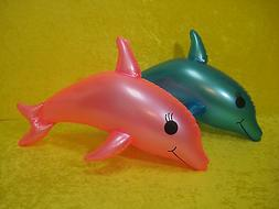 "PAIR of 24"" Inflatable Dolphins Pool Toys"
