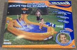 Banzai Pirate Ship Inflatable Pool and Slide With Cannon- 9'