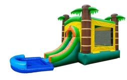 Pogo Tropical Premium Inflatable Bounce House Water Slide Co