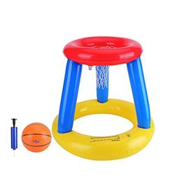 XZzhizi Pool Basketball Hoop,Inflatable Giant Floating Set S