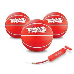 GoSports Pool Basketball Hoops Inflatable Basketballs | 3 Pa