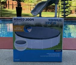 Summer Waves Pool Cover 15ft Easy Set Inflatable Frame Above