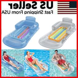 Pool Float Lounge Floating Swimming Lounger With Headrest Cu