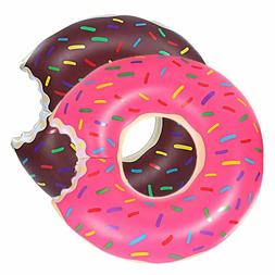 Pool Floats Inflatable Strawberry Donut Pool Float Swim Ring