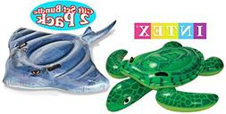 Intex Pool Floats Sea Turtle Ride-On & Stingray Ride-On Gift